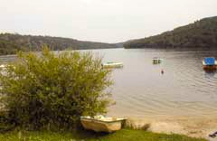 A view of Lac de Guerledan